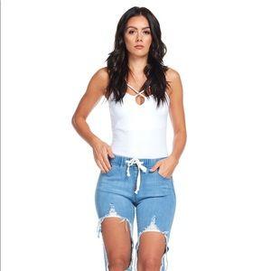 Denim - Ripped Denim Jeans (1X-3X)
